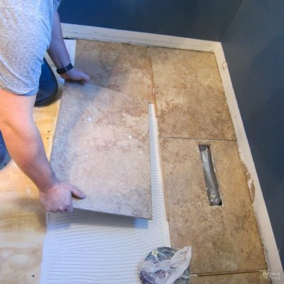 Guest Bathroom Renovation – Part 2: Tiling