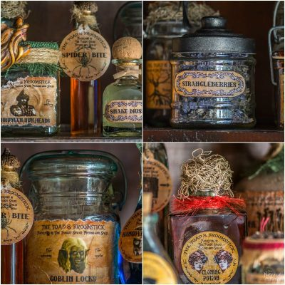 Apothecary Jars and Free Printable Labels