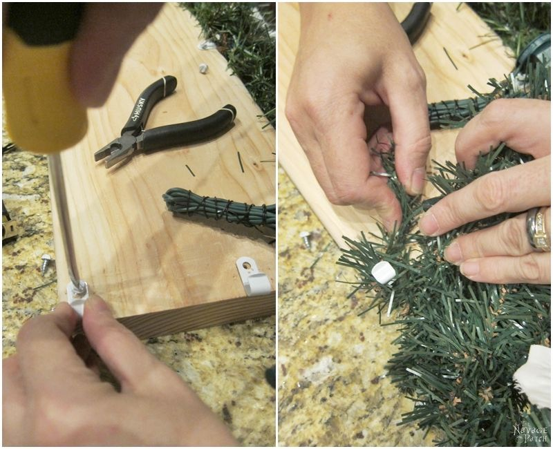 How to Decorate a Narrow Stone Mantel in 5 Minutes | Beautiful and Practical DIY Christmas Mantel Decoration | Easy and Budget Friendly Holiday Decoration| How to Decorate A Catalog Worthy Mantel | How to Prepare A Christmas Garland The Easy Way | 5 minute Mantel Decoration | TheNavagePatch.com