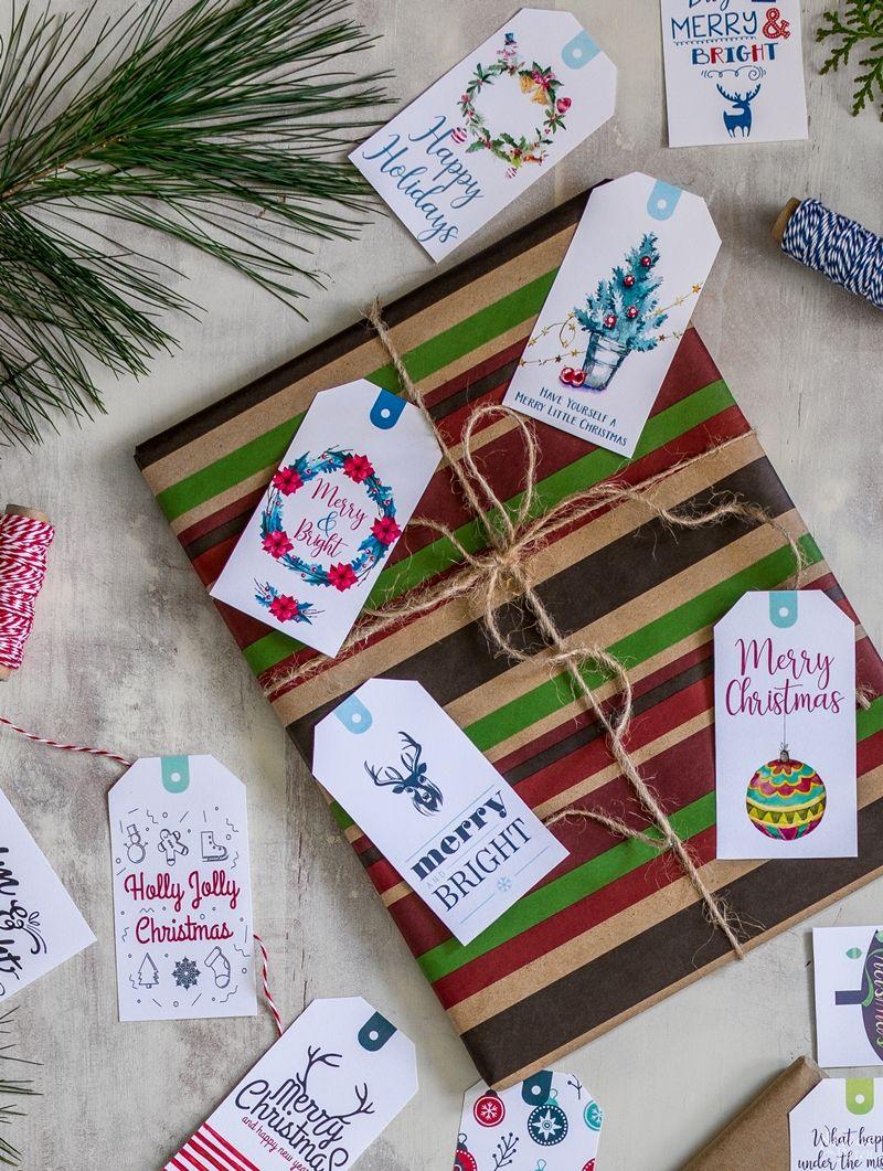 35 Free Printable Christmas Gift Tags| Free Printable #Christmas #GiftTags | Easy gift wrapping ideas | #TheNavagePatch #easydiy #Christmas #FreePrintable #DIY #Holidaydecor #Free #DIYChristmas #Christmascrafts #DIYGifts #Gifttags #Holidays | TheNavagePatch.com