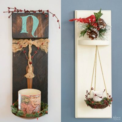 Scrap Wood Sconces