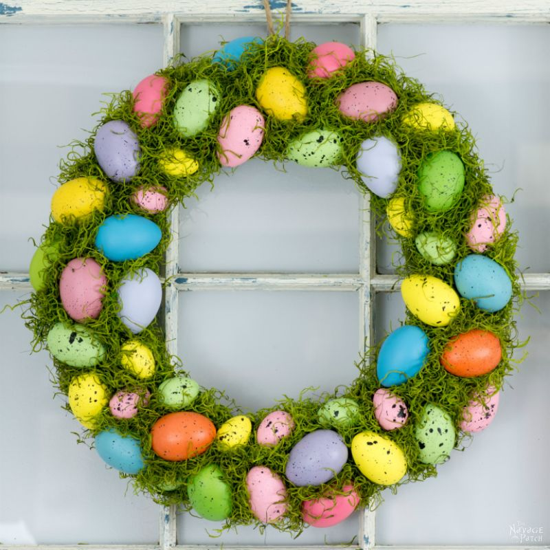 Cheerful Spring Wreath And Tree The Navage Patch