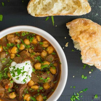 Turkish Chick Pea Stew (Etli Nohut)
