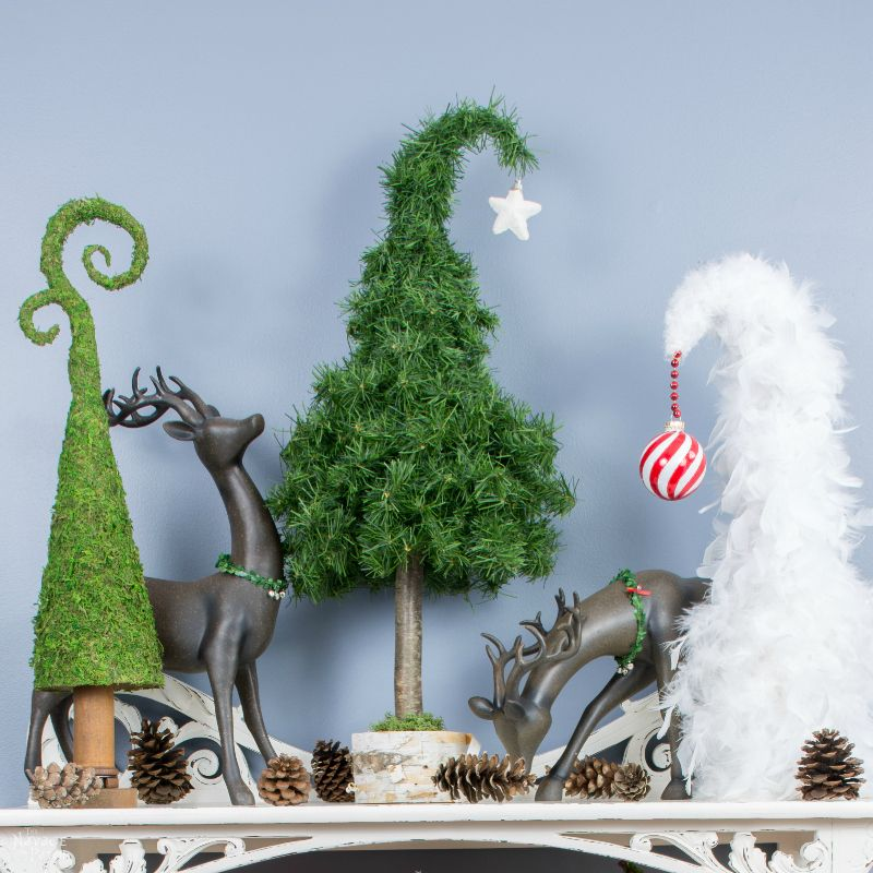 Whimsical Tabletop Christmas Trees | Simple Christmas DIY under 30 minutes | Repurposed and Upcycled holiday decoration | DIY Christmas decoration | #TheNavagePatch #easydiy #Christmas #crafts #DIYChristmas #holidaydecor #upcycled #repurposed #Holidays | TheNavagePatch.com