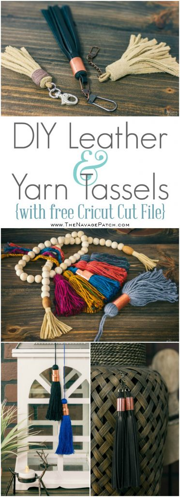 DIY Leather and Yarn Tassels pin image