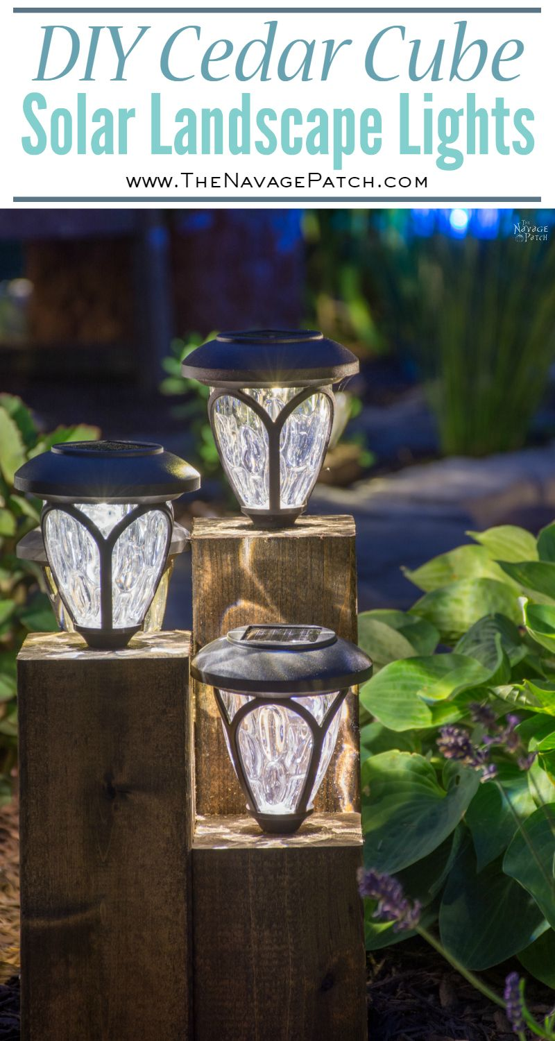 Diy Cedar Cube Solar Landscape Lights The Navage Patch
