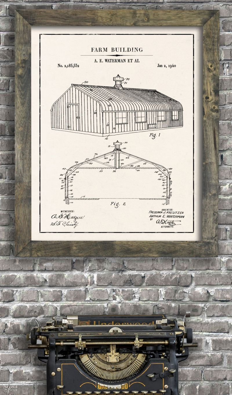 Farmhouse Patent Art And Surprise Bonus Printables The