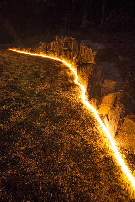 rope lights used in landscaping