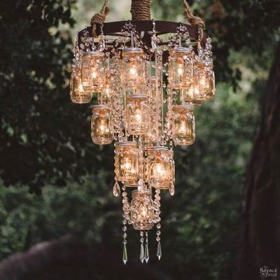 Creative and easy DIY outdoor lighting | DIY outdoor solar lights | DIY landscape lighting | DIY outdoor lights | DIY path lights | DIY garden chandelier | How to make a chandelier from solar lights | DIY bottle tree lights | DIY garden orb lights | DIY garden lights | Easy and affordable DIY landscape lighting | #Outdoor #Garden #Solarlight #Landscaping | TheNavagePatch.com
