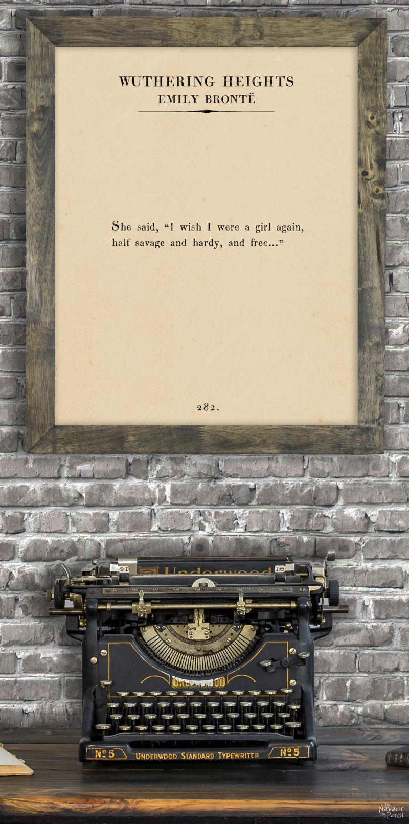 The Hunger Games Famous Quote Printed On Page From The Book Framed Wall Art