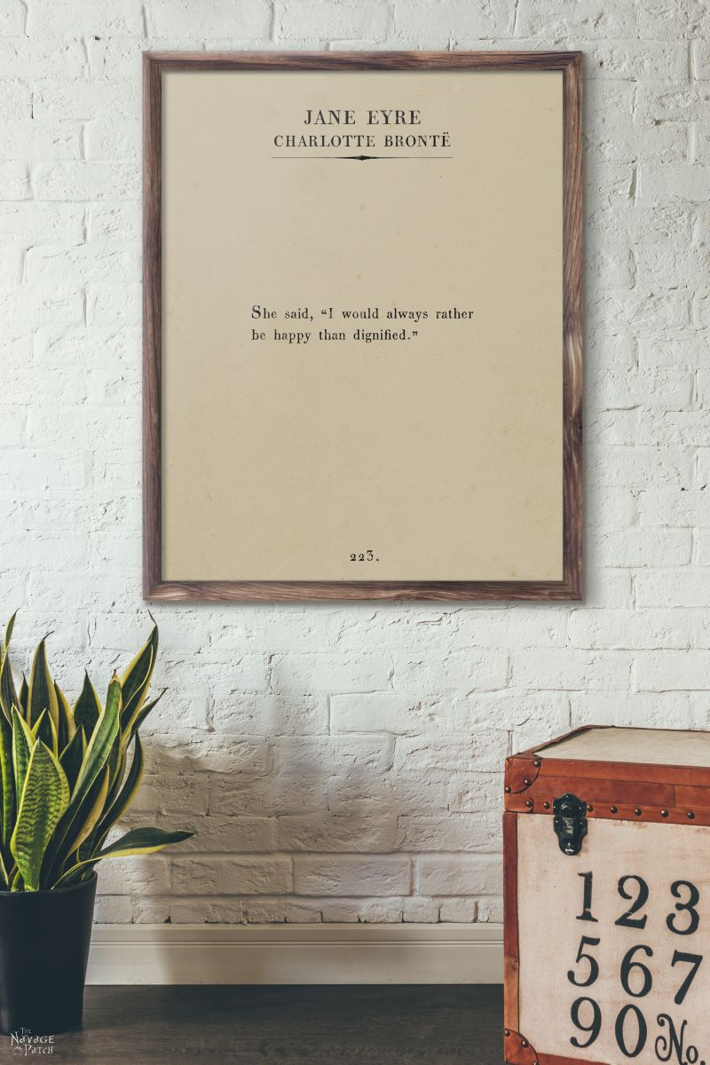 Oversize Book Page Wall Art - Women of the Word | 12 free printable book page wall art | Amazing set of free printable book page quotes from female authors| DIY oversize book page quote art | Women author book page wall art | Free oversize wall art | Easy DIY farmhouse style wall decor | Ready to print gallery wall | #FreePrintable #FreeWallArt #DIY #GalleryWall #BookPage #Quotes | TheNavagePatch.com