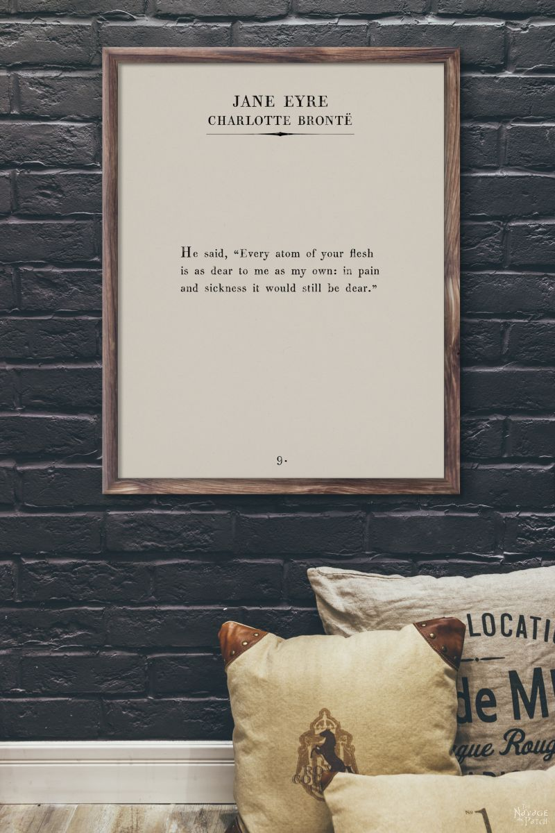 Book page wall art