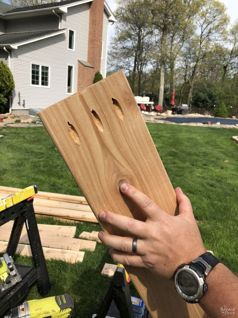 cedar board used to build raised garden beds