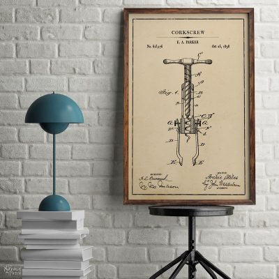 Free Wine Patent Art Printables