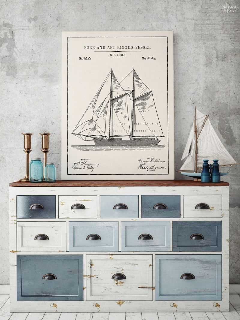 Nautical wall art the navage patch free printable nautical wall art vintage nautical patent art free printables free vintage blueprints malvernweather