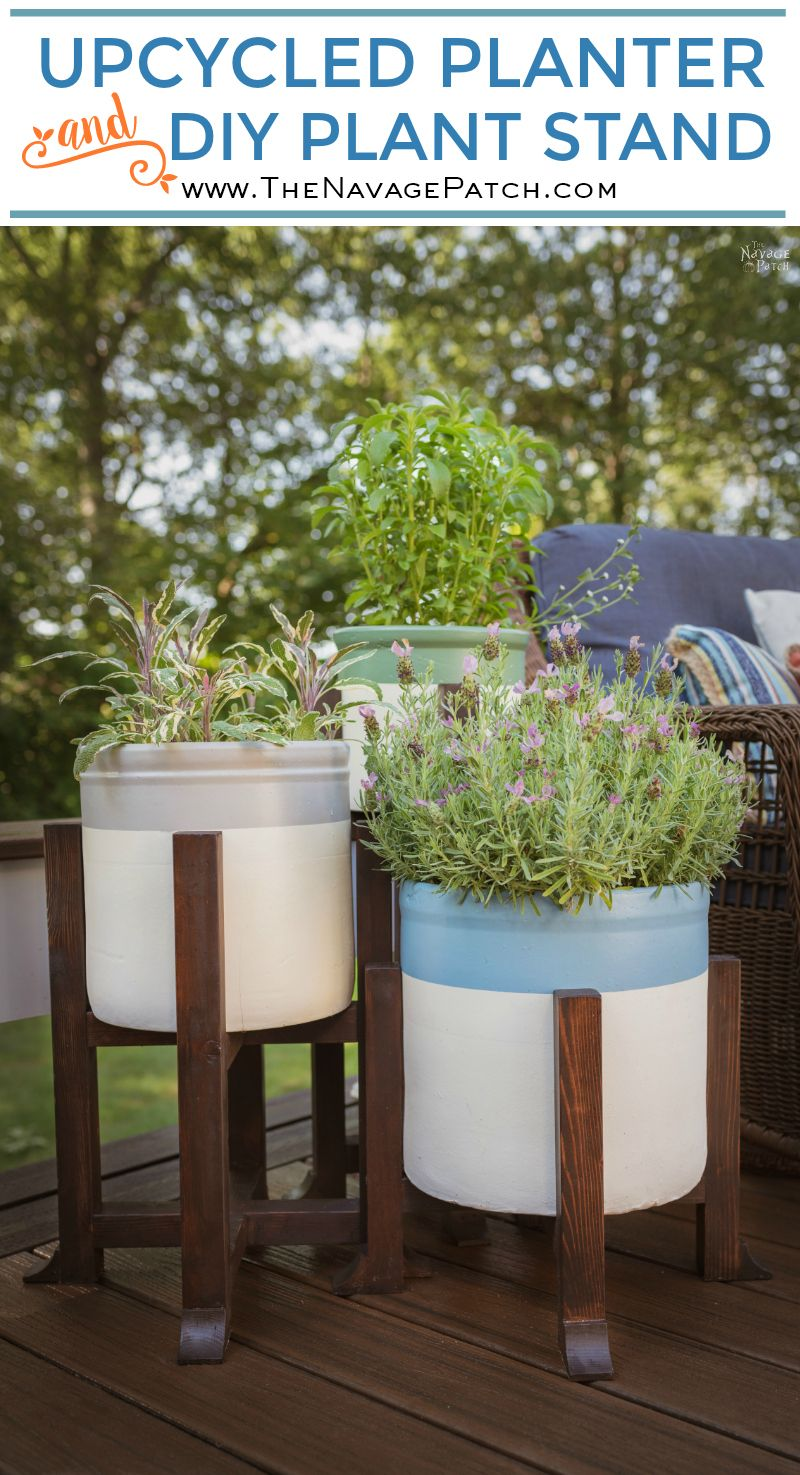 Pottery Barn Inspired DIY Planter and Plant Stand pin image