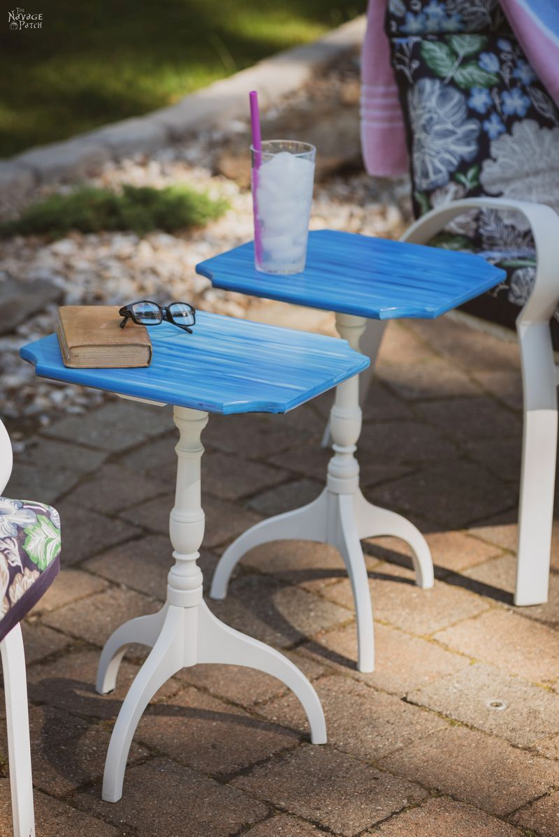 Unicorn Spit Side Table Makeover | How to use unicorn spit | Unicorn spit tutorial | Upcycled coastal side table | DIY Furniture Makeover | #thenavagepatch #unicornspit #paintedfurniture #DIY #diyfurniture #upcycled #tutorial #furnituremakeover #easydiy #coastal #gelstain #howto #homedecor| TheNavagePatch.com