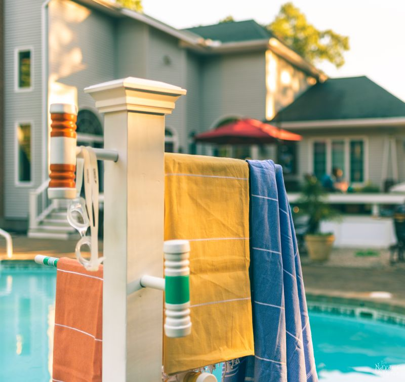 Croquet Mallet Pool Towel Rack The Navage Patch