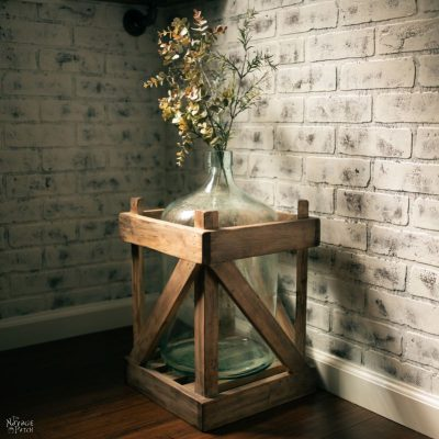 Weathered Wood Carboy Crate