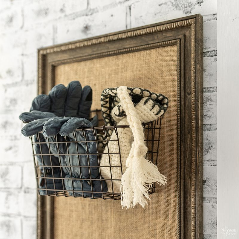 DIY Mudroom Organizer   How to built a rental friendly organizer   Inexpensive DIY furniture   Home decor and organization   #TheNavagePatch #diy #diyfurniture #easydiy #organizer #organization #frame #farmhouse   TheNavagePatch.com