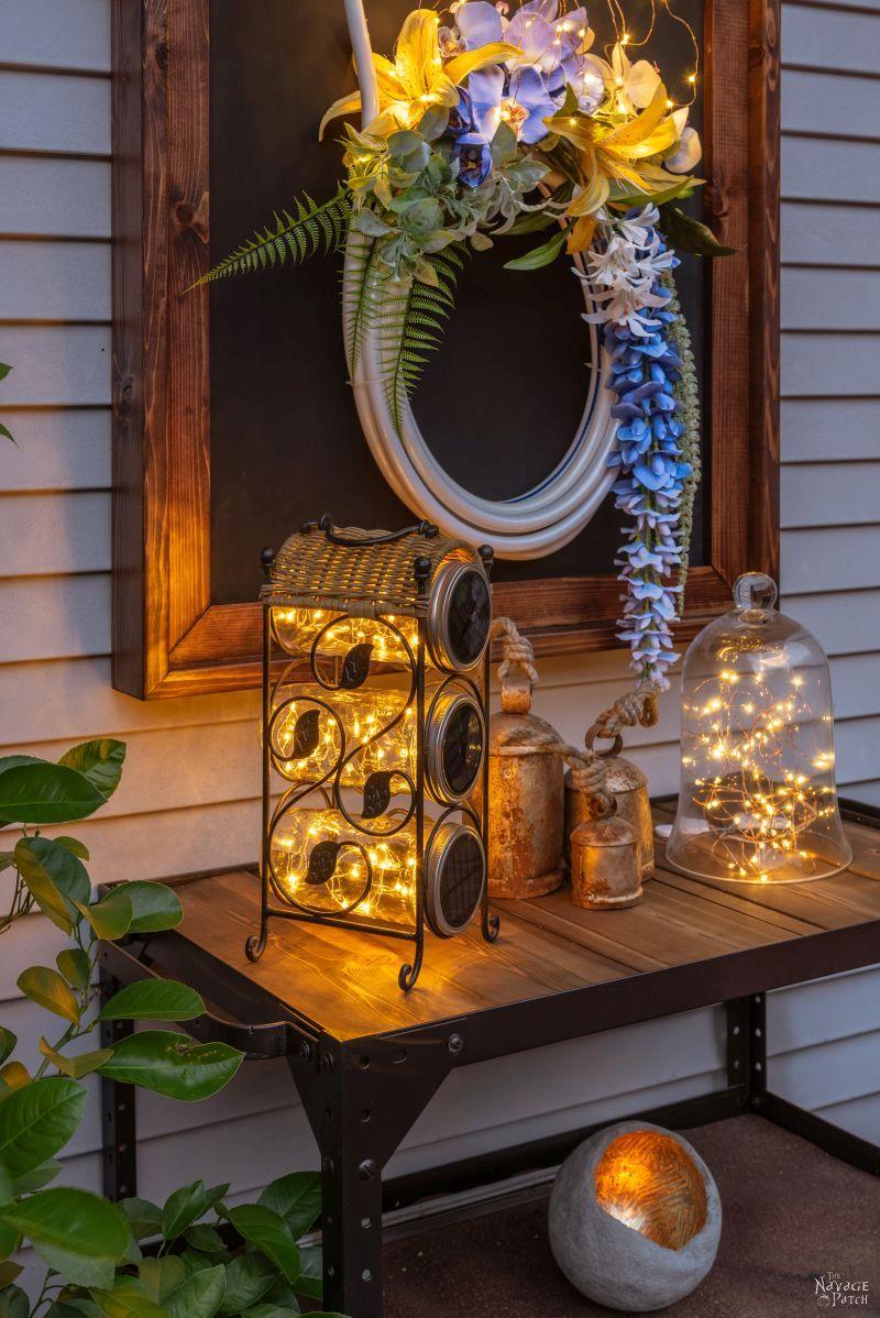 Deck Reveal | Deck decor ideas with source list | Trex Deck design ideas | How to choose a decking material | Composite deck vs pressure treated wooden decks | Trex Deck Vintage Lantern and Spiced Rum | #thenavagepatch #deck #outdoors #homedecor #diy #trex #trexdeck #deckdesign | TheNavagePatch.com
