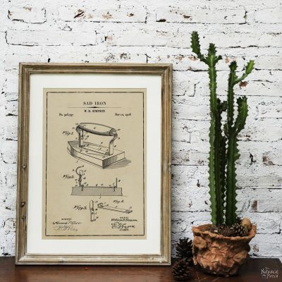 Laundry Room Vintage Patent Prints