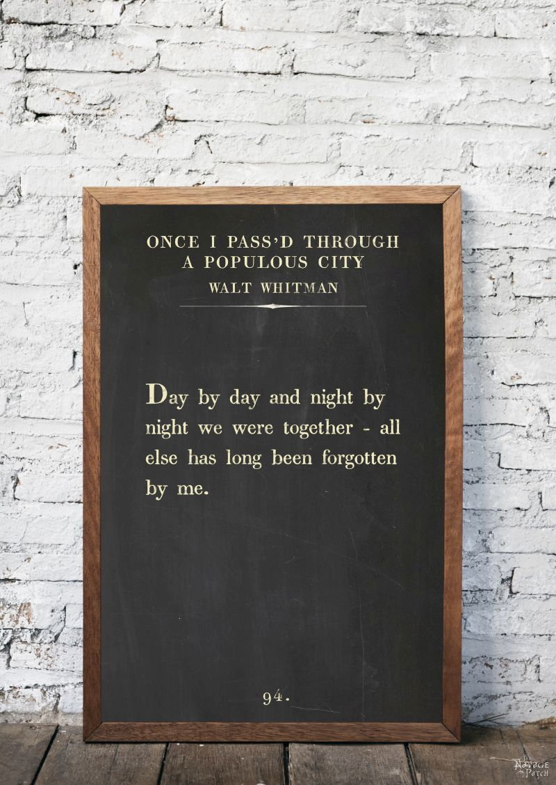 Free Printable Book Page Quote Art   Free printable oversize book page art   Amazing set of free printable book page quotes from famous authors   Free oversize typography wall art   Easy DIY farmhouse style wall decor   Ready to print gallery wall   #TheNavagePatch #FreePrintable #FreeWallArt #easydiy #GalleryWall #BookPage #Quotes #Typography   TheNavagePatch.com