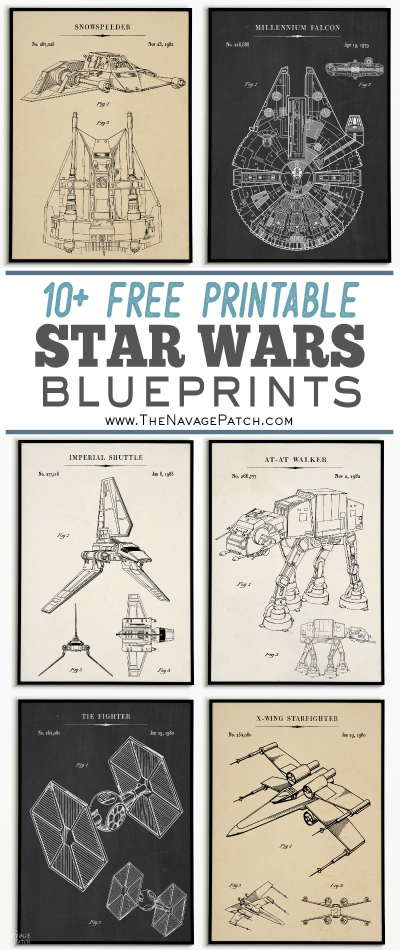 image relating to Printable Star Wars Images known as Free of charge Printable Star Wars Blueprints - The Navage Patch