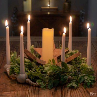DIY Bead Garland Candle Holder