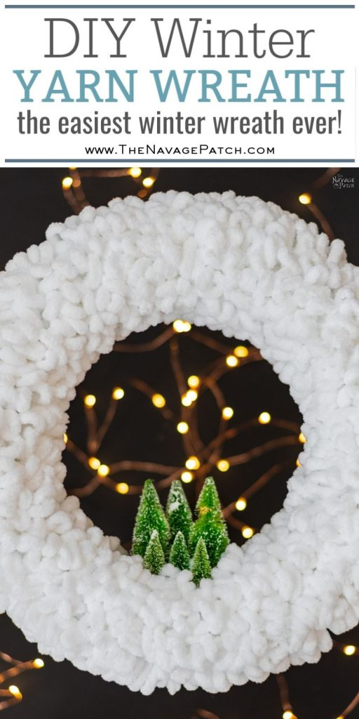 DIY Winter Loop Yarn Wreath | The easiest DIY winter wreath ever | How to make a loop yarn wreath in under 30 minutes | DIY upcycled Christmas decorations | Repurposed Loopity loop yarn | #TheNavagePatch #easydiy #Christmas #Upcycled #Repurposed #DIY #Holidaydecor #DIYChristmas #Christmascrafts #Christmaslights #DIYhomedecor #LoopYarn #Holidays | TheNavagePatch.com