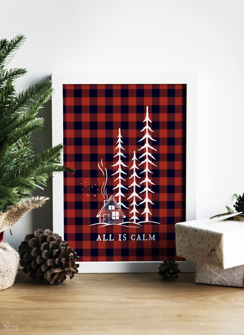 Free Printable Buffalo Plaid Christmas Decor The Navage Patch