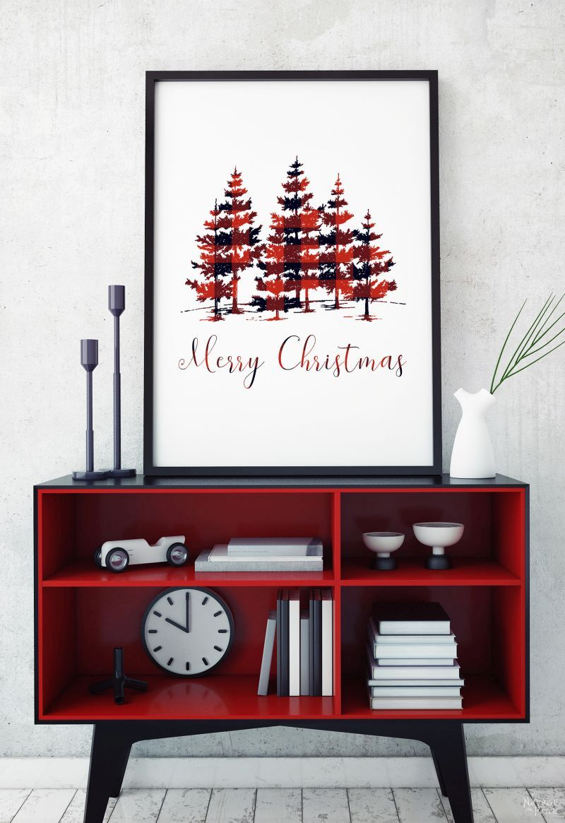 Free Printable Buffalo Plaid Christmas Decor | Free buffalo check Christmas printables | Free printable | Buffalo plaid deer | Buffalo check tree | #TheNavagePatch #FreePrintable #buffaloplaid #easydiy #buffalocheck #Typography #Christmas #Holidaydecor #DIYChristmas | TheNavagePatch.com