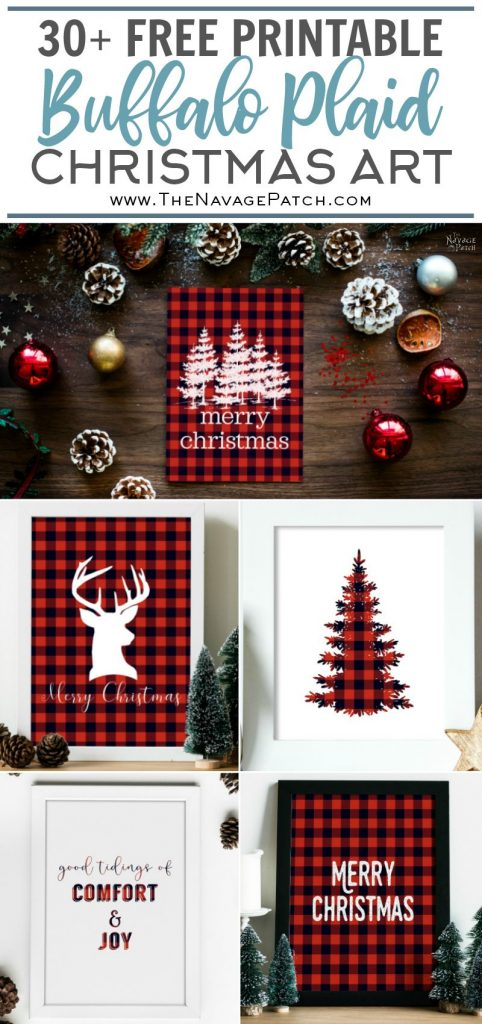 free printable buffalo plaid christmas decor free buffalo check christmas printables free printable