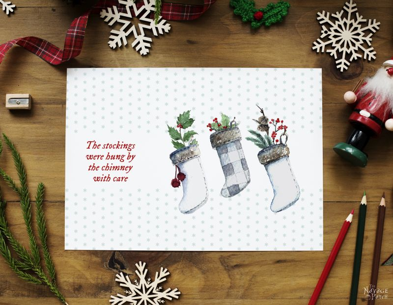 Christmas Free Images.Beautiful Free Watercolor Christmas Printables The Navage
