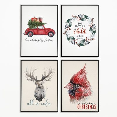 20+ Beautiful Free Christmas Printables | Free watercolor Christmas printables | Free Christmas printables | Free printable watercolor art for Christmas | Free printable holiday wall décor | #TheNavagePatch #FreePrintable #watercolor #easydiy #Christmasprintables #Typography #Christmas #Holidaydecor #DIYChristmas | TheNavagePatch.com