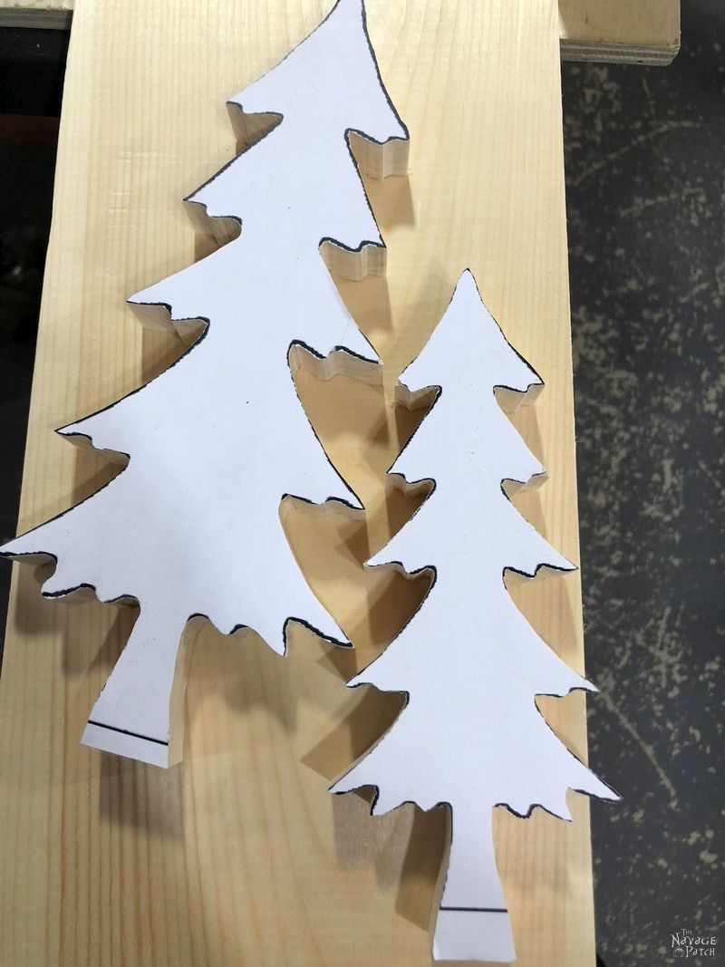 Diy Wood Alpine Tree With Jingle Bells The Navage Patch