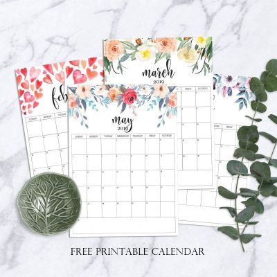 Free Printable Calendar 2019 | Free printable planner | Organizational free printables | #TheNavagePatch #FreePrintable #DIY #Freecalendar #Free #Freeplanner #Organization | TheNavagePatch.com
