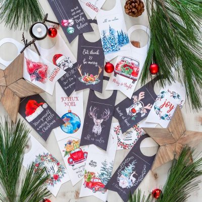 Free Printable Gift Tags and Wine Tags