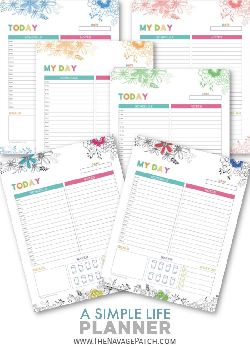 picture relating to Printable Life Planner named A Very simple Lifestyle Planner - No cost Printable Planner! - The Navage