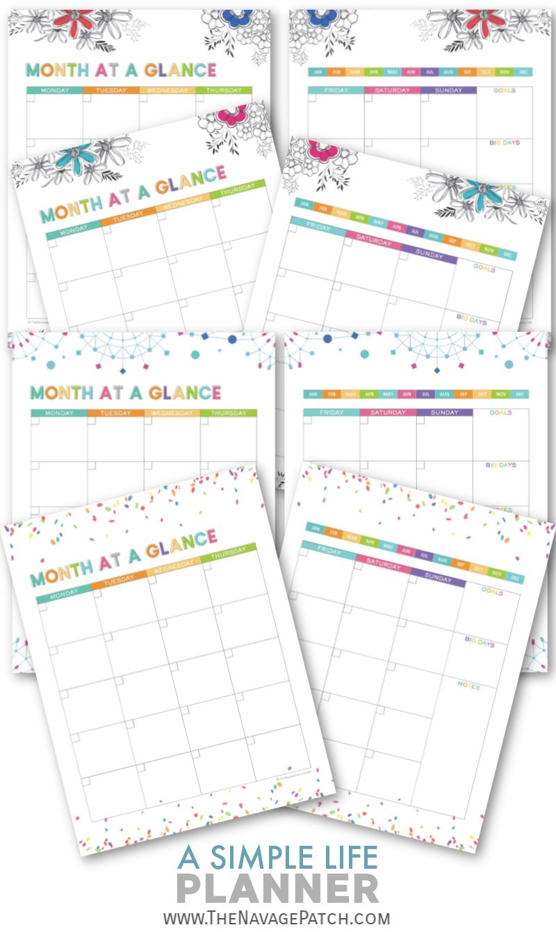 With this FREE printable Life Planner organize your daily, weekly and monthly schedule, take control of your finances, track your goals and habits, plan your meals, and keep your important information all in one binder! | Free organization printables | Free printable planner | Daily planner printables | Weekly planner printables | Free printable weekly meal planner | #TheNavagePatch #FreePrintable #LifePlanner #Calendar #Freeplanner | TheNavagePatch.com