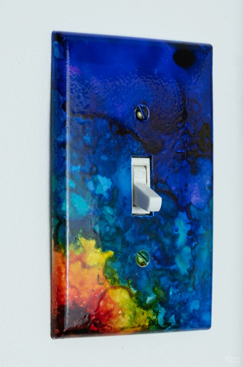 DIY Alcohol Ink Switch Plates - Pin2 TNP
