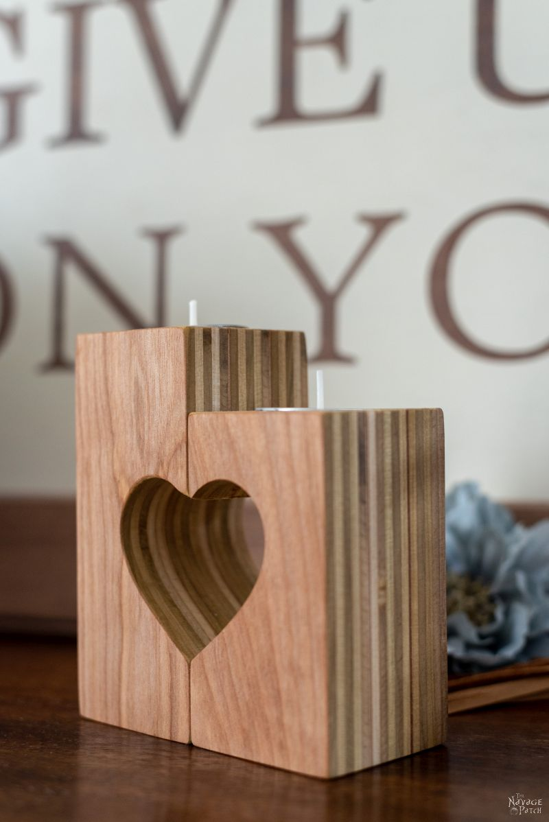 Diy Heart Candle Holders The Navage Patch