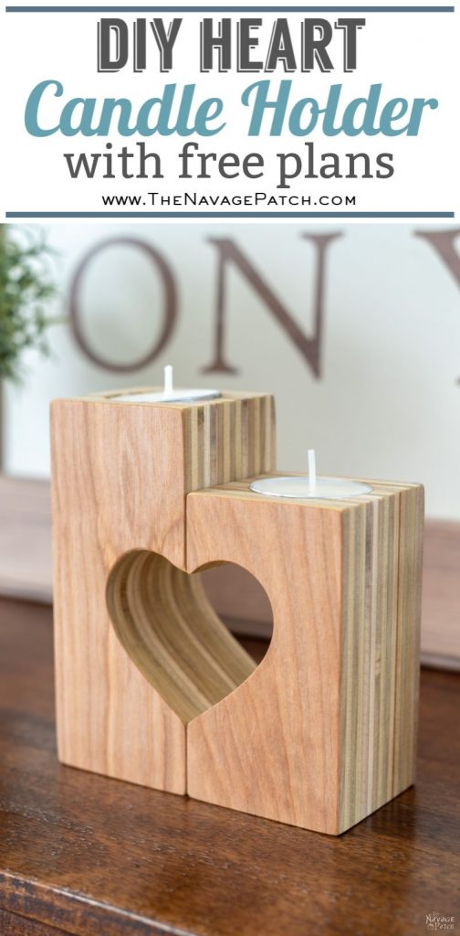 DIY Heart Candle Holders | DIY Valentine's day decor | DIY plywood candle holders with free plans | How to make heart candle holders the easy way | Free plans for heart candle holders | Heart candle holder free template | DIY farmhouse Valentines day decor | #thenavagepatch #easydiy #freeplans #farmhouse #DIY #valentinesday #valentinesdecor #heart #homedecor #freeprintable | TheNavagePatch.com