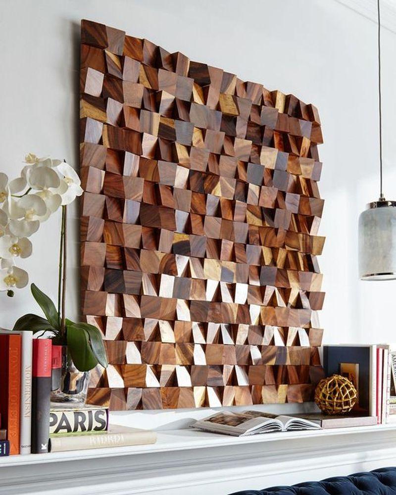 Diy Wood Wall Art Make Art From Scrap 4x4 Lumber The