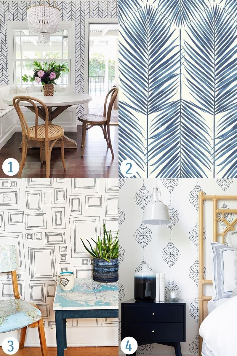 Traditional unpasted wallpapers