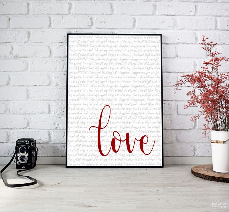 free printable love typography art