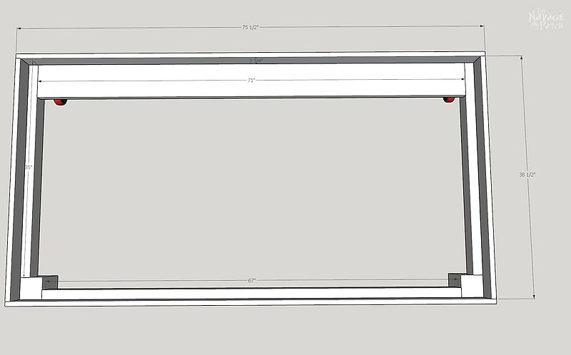 sketchup drawing of diy daybed