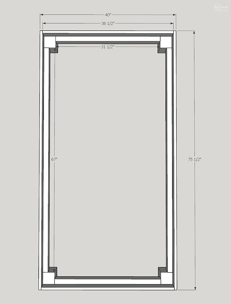 top view of sketchup drawing of diy daybed