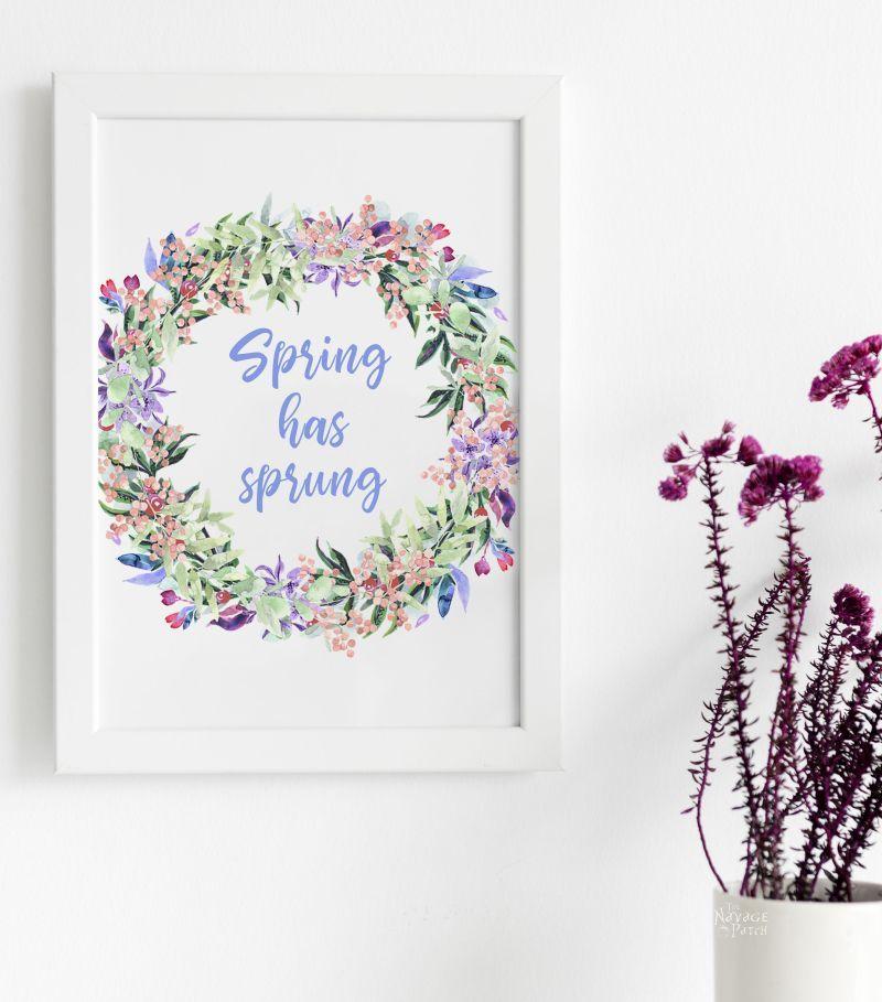 Free watercolor spring printable - spring has sprung