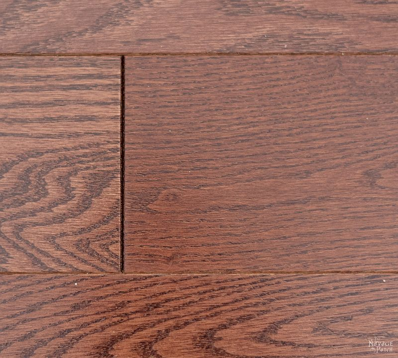 closeup of wood floor